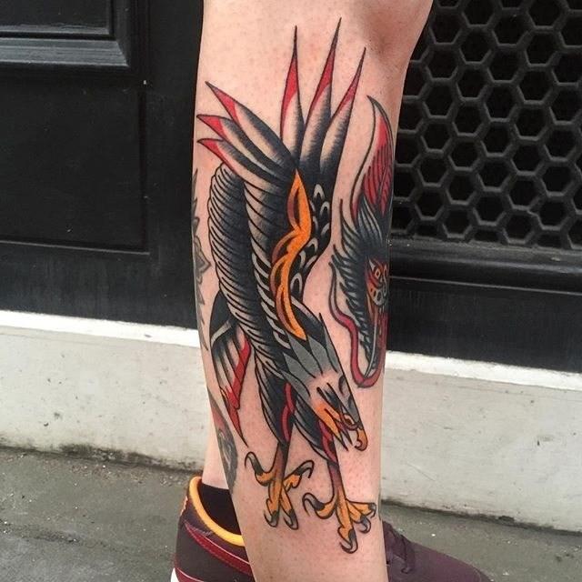 traditional eagle tattoo 039