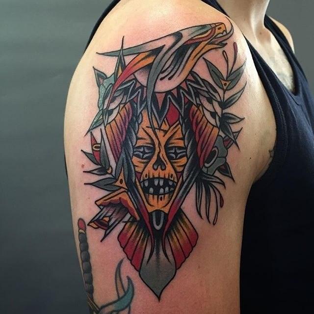 traditional eagle tattoo 045