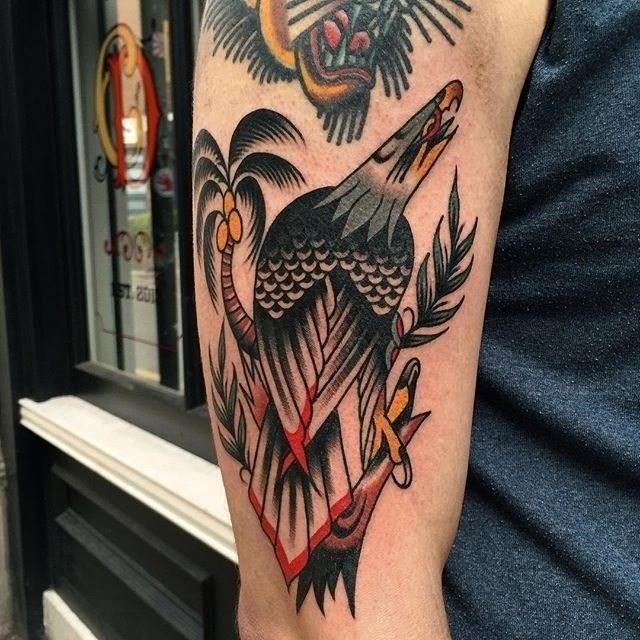 traditional eagle tattoo 047