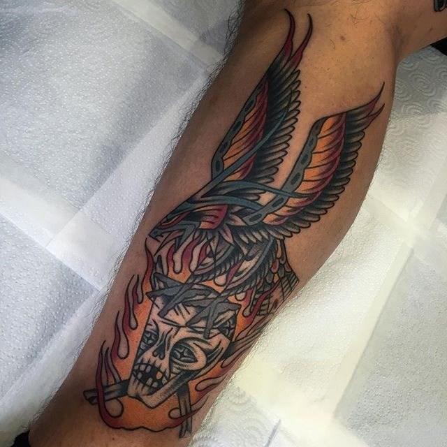 traditional eagle tattoo 048