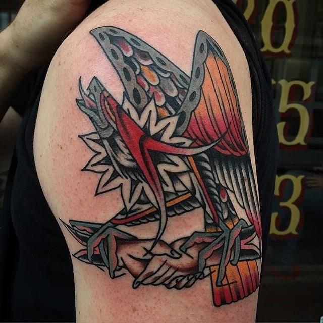 traditional eagle tattoo 052