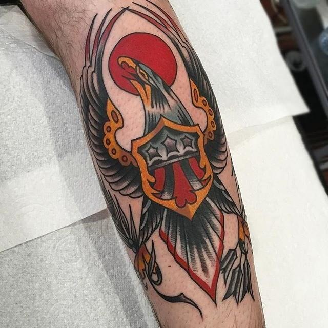 traditional eagle tattoo 053