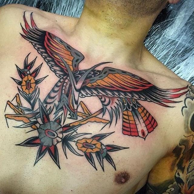 traditional eagle tattoo 056