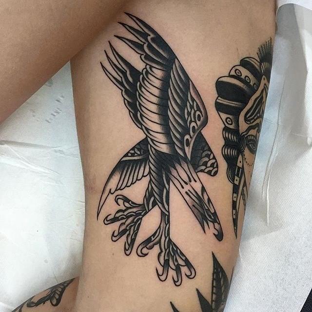 traditional eagle tattoo 057