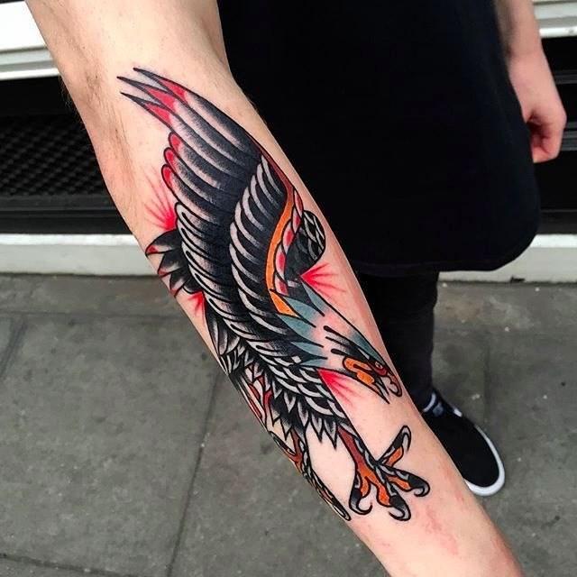 traditional eagle tattoo 060