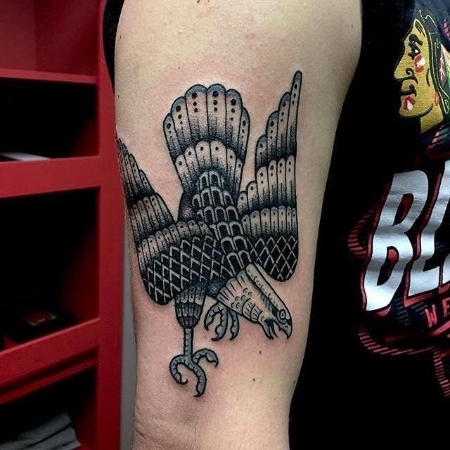traditional eagle tattoo 062