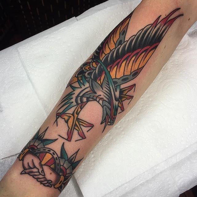 traditional eagle tattoo 067