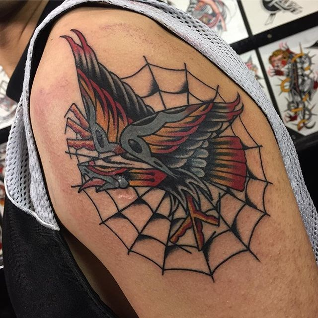 traditional eagle tattoo 071