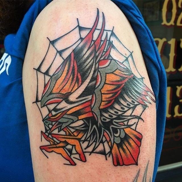 traditional eagle tattoo 073