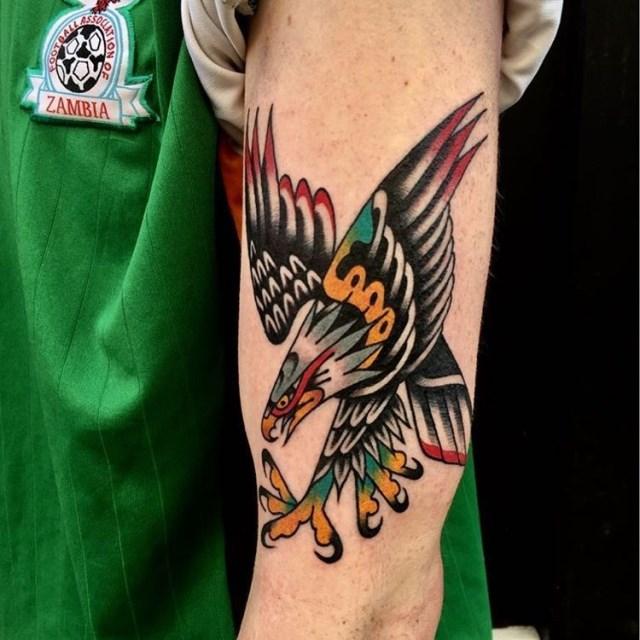 traditional eagle tattoo 077