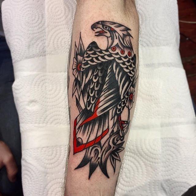 traditional eagle tattoo 081