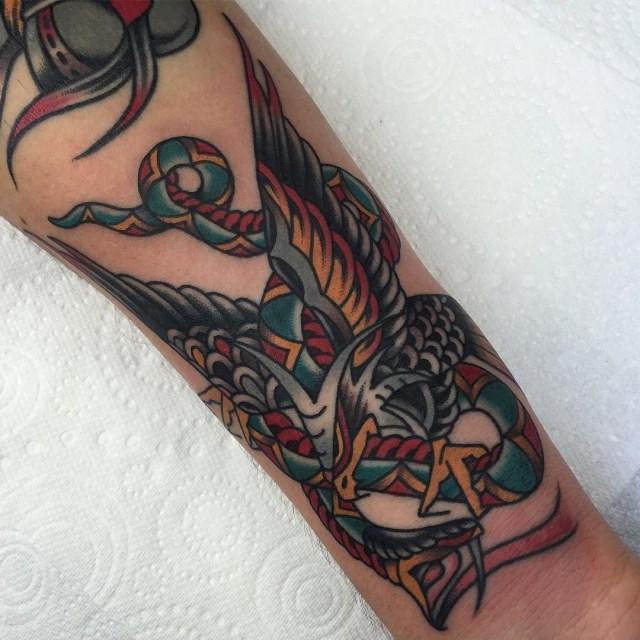 traditional eagle tattoo 084