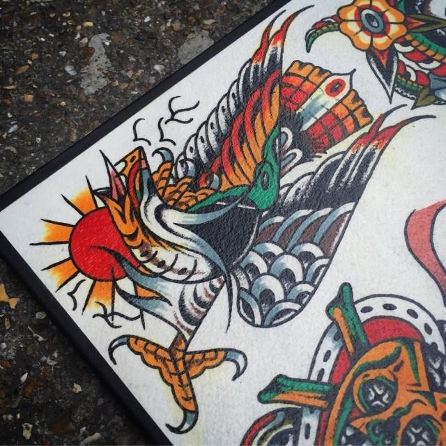 traditional eagle tattoo 095