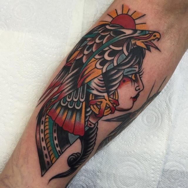 traditional eagle tattoo 097