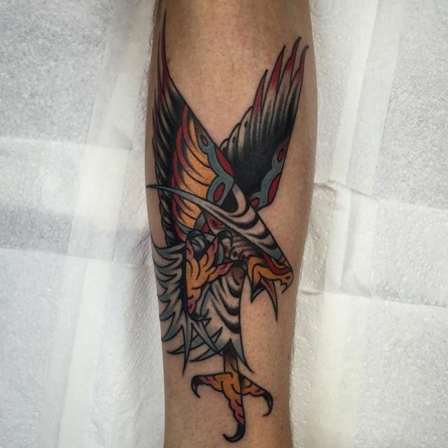 traditional eagle tattoo 099