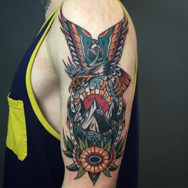 traditional eagle tattoo 105