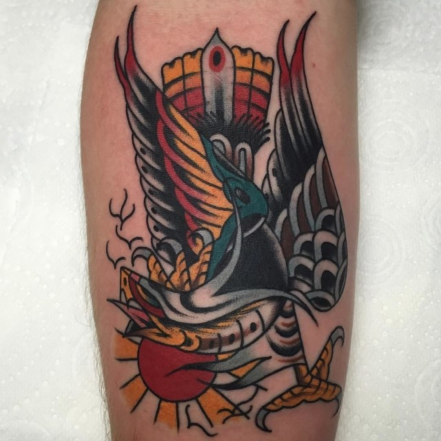 traditional eagle tattoo 107