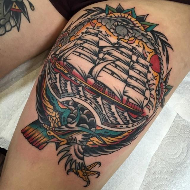 traditional eagle tattoo 110