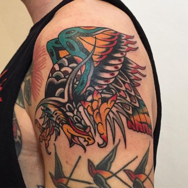 traditional eagle tattoo 111