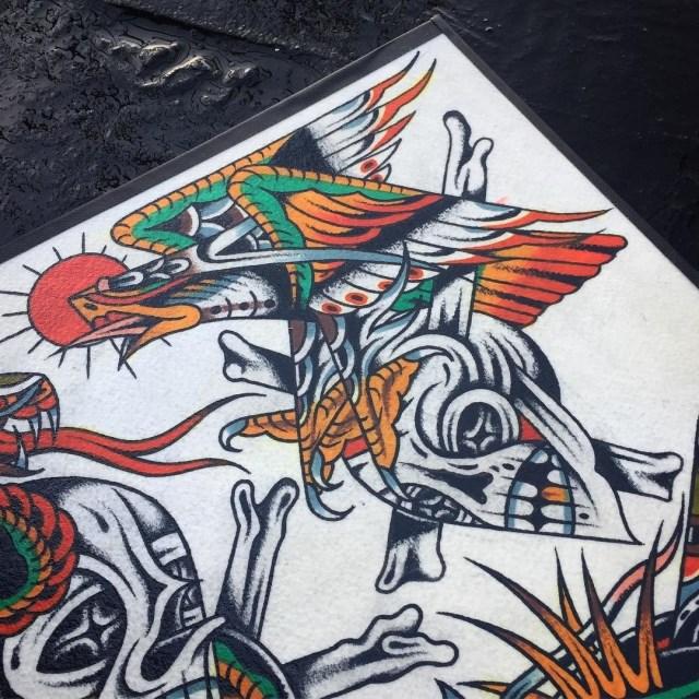 traditional eagle tattoo 113