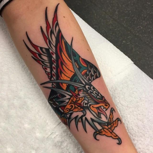 traditional eagle tattoo 118