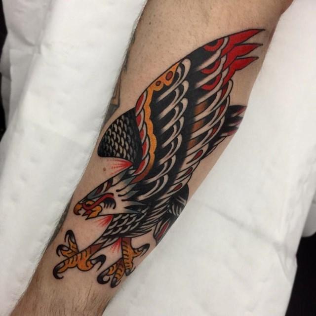 traditional eagle tattoo 119