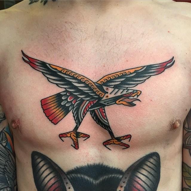 traditional eagle tattoo 123