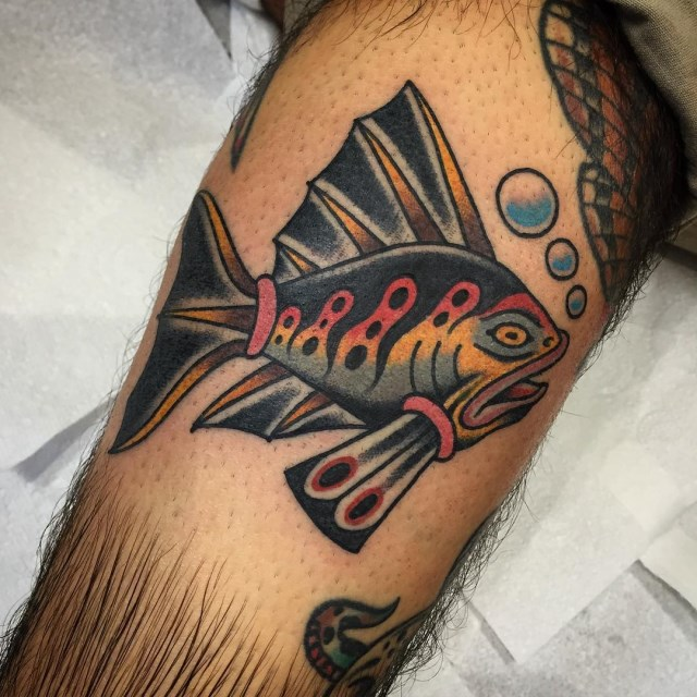 traditional fish tattoo 1