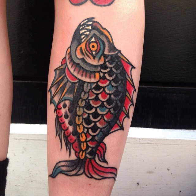 traditional fish tattoo 5
