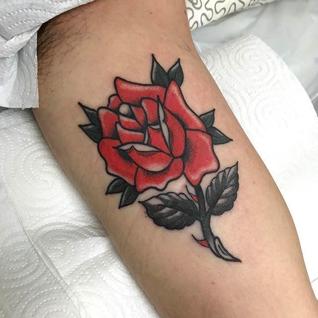 traditional flower tattoo 16
