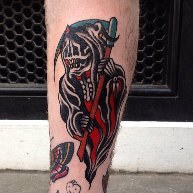 traditional grim reaper tattoo 06