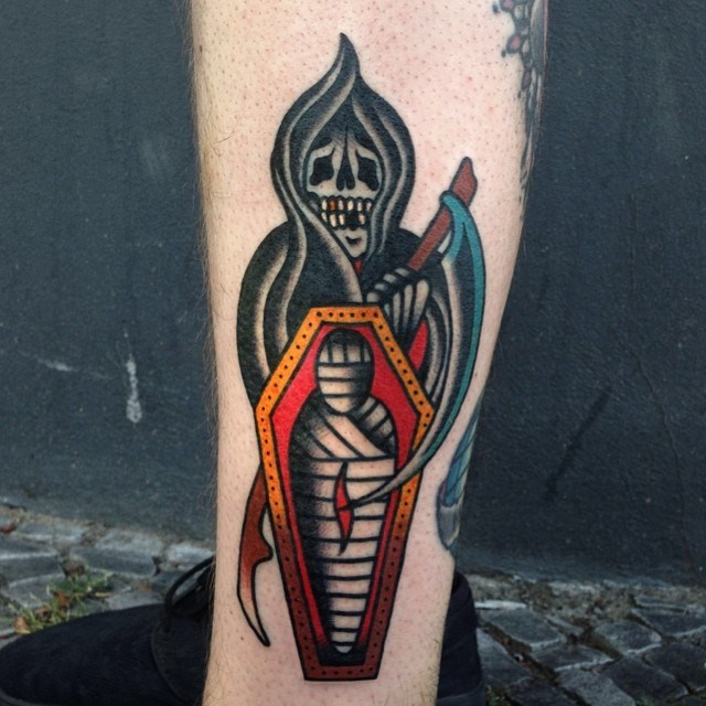 traditional grim reaper tattoo 07