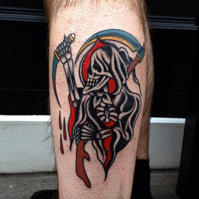 traditional grim reaper tattoo 09