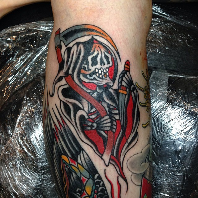 traditional grim reaper tattoo 10