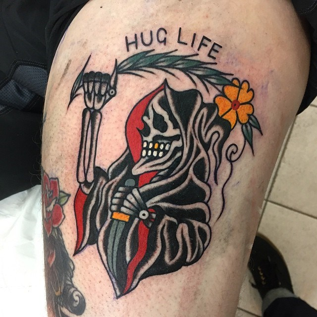 traditional grim reaper tattoo 11