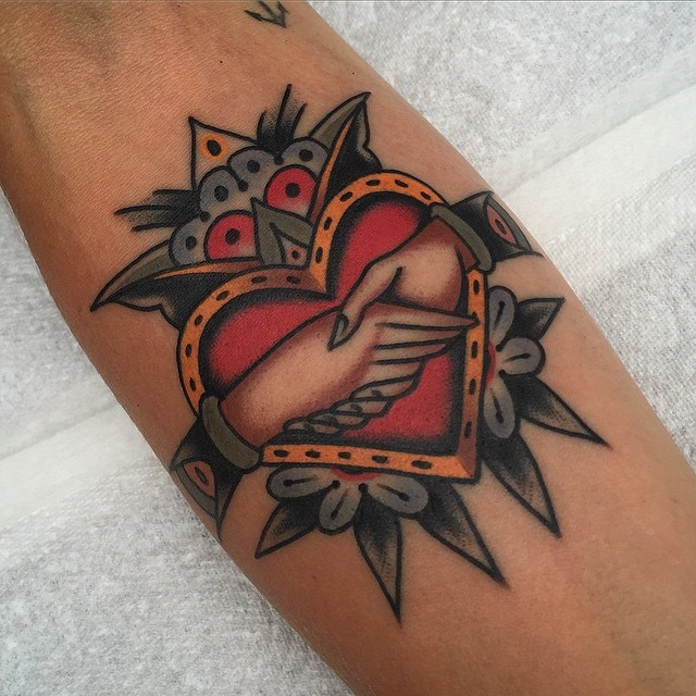 traditional heart tattoo 01