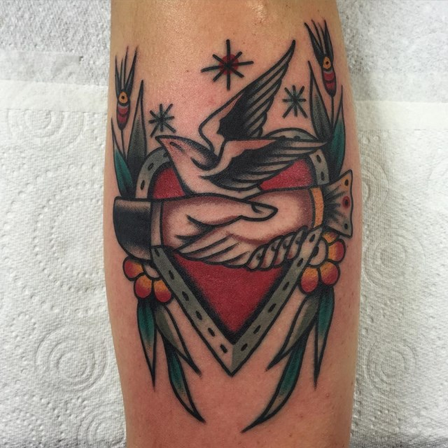 traditional heart tattoo 03