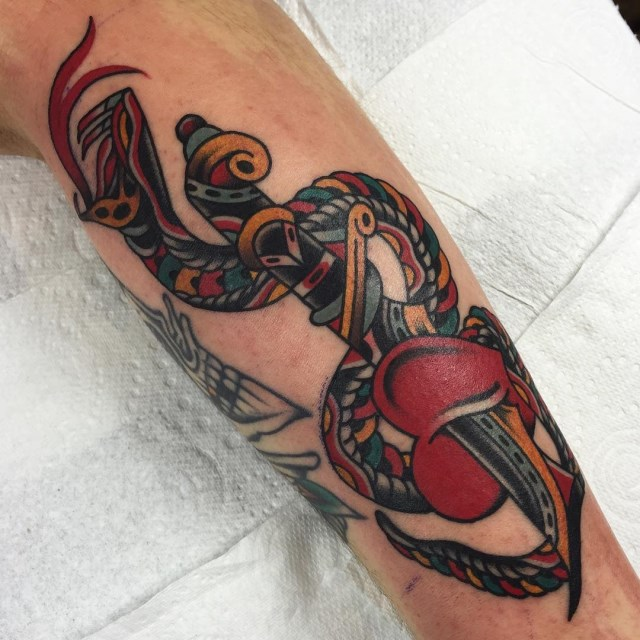 traditional heart tattoo 10