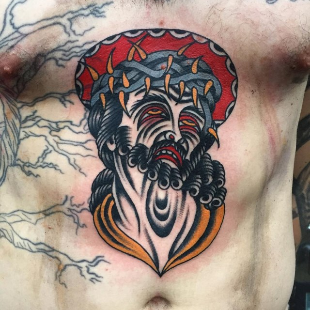 traditional jesus tattoo 04