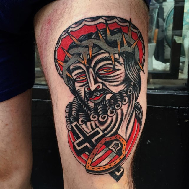 traditional jesus tattoo 05