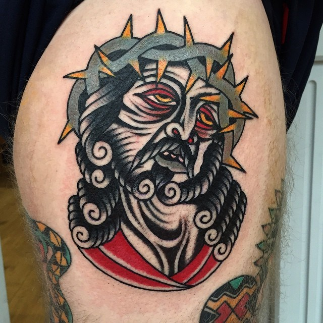 traditional jesus tattoo 07