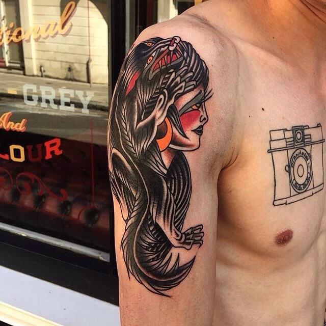 Traditional Ladyhead Tattoo 04