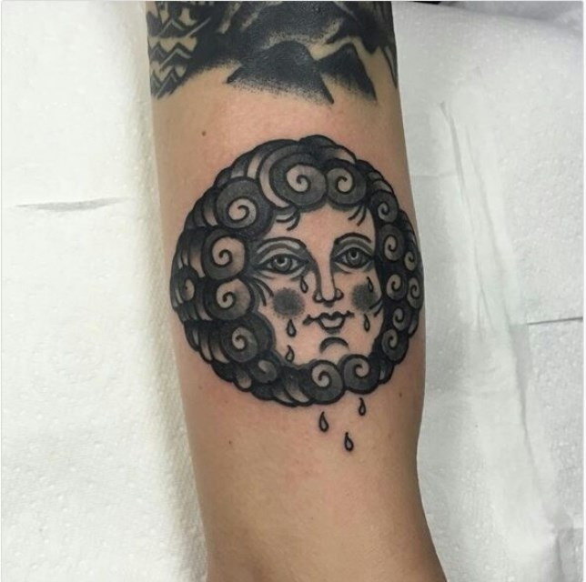 traditional ladyhead tattoo 20