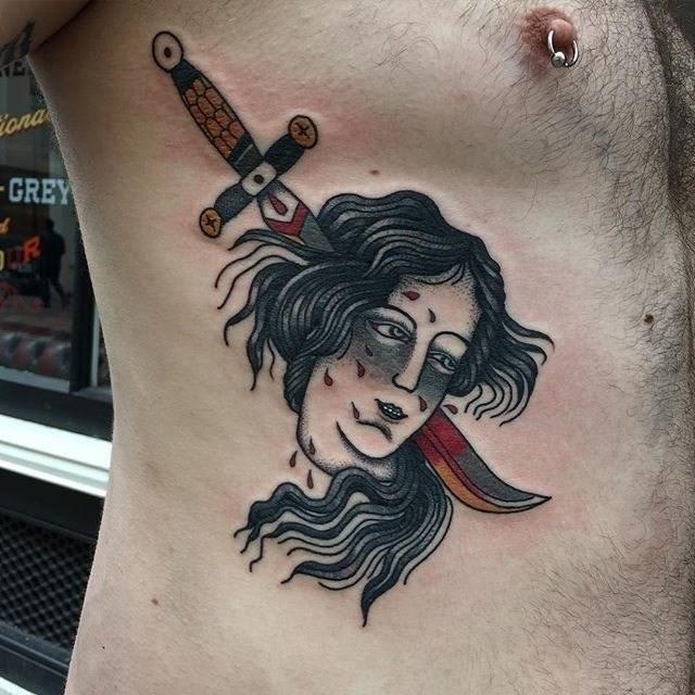 Traditional Ladyhead Tattoo 21