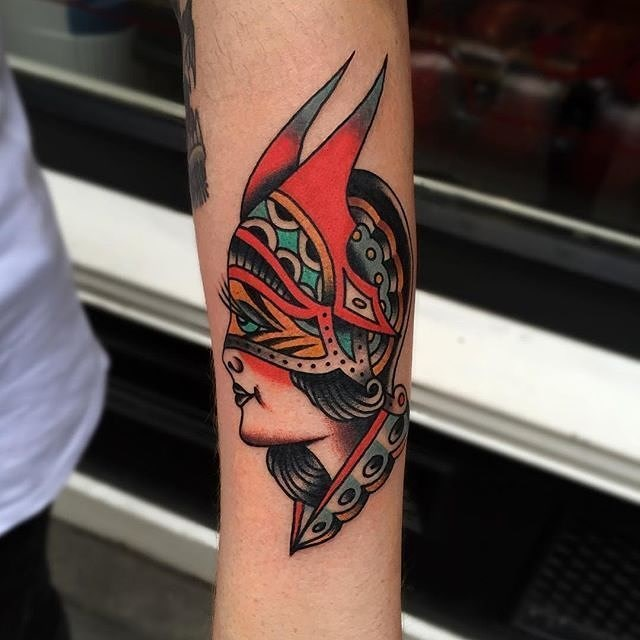 Traditional Ladyhead Tattoo 30