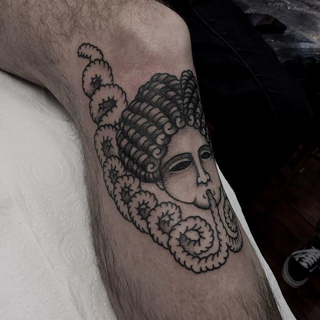 traditional ladyhead tattoo 37