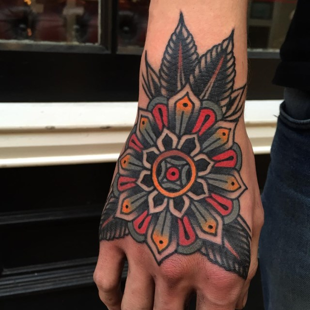 traditional mandala tattoo 02