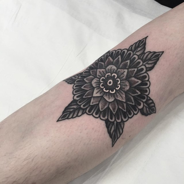 traditional mandala tattoo 06