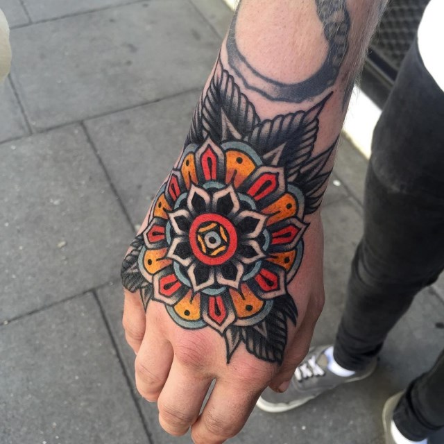 traditional mandala tattoo 09
