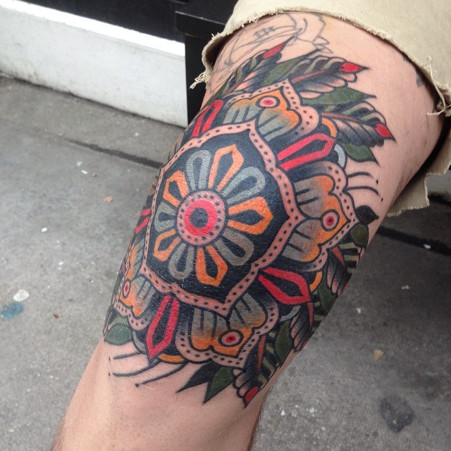 traditional mandala tattoo 14
